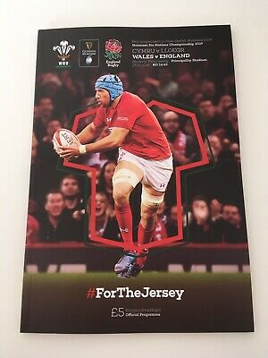 NEW 2019 Wales v England Official Programme Program Guiness Six Nations 23/2/19