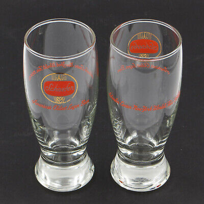 "Pair of 2x SCHAEFER BEER 1964-65 New York World's Fair 6"" Glasses Lot of 2"