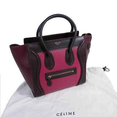 f1e4e7a136 Pre-Loved Limited Edition Celine Mini Luggage - Orchid Tricolor Smooth  Leather