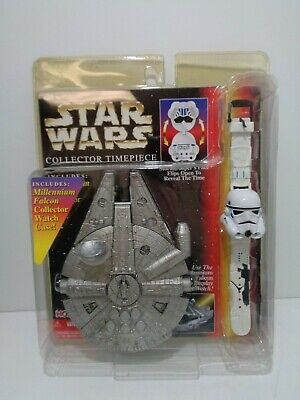 Star Wars COLLECTOR TIMEPIECE Millennium Falcon / Stormtrooper - Hope MOC 1997