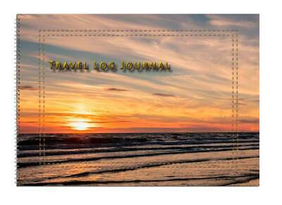 Caravan or Motor home Owners, Travel Record Log & Journal A5 - Sun & Sea D13
