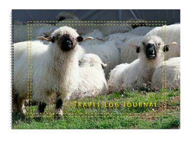 Caravan or Motorhome Owners, Travel Record Log & Journal A5 - Curly Sheep D14