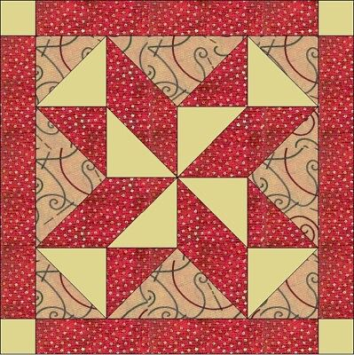 Mosaic Quilt Block kit for a cushion or table centre 30 x 30 cm