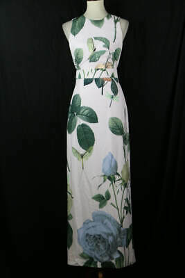 084053912d717 TED BAKER PINK Multi Dragonfly Print Sleeveless Maxi Dress 1 ...