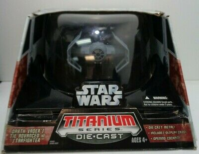 Darth Vader/'s TIE Advanced x1 Starfighter 2006 Star Wars SAGA Collection MIB