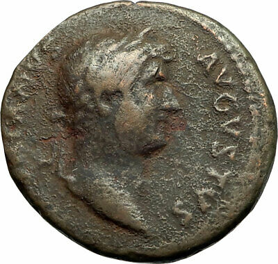 HADRIAN 117AD Large Rare Ancient Roman Coin Lady Justice Justitia i76086