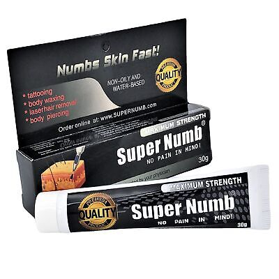 30g - 600g SUPER NUMB Numbing Cream Numb Tattoo Piercings Waxing Laser Dr