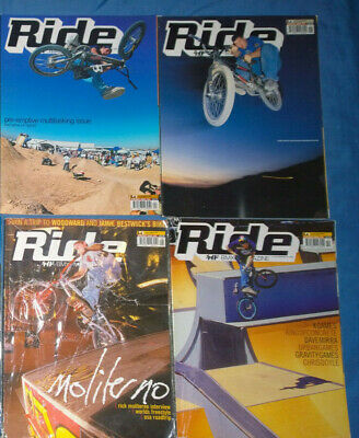 Ride UK BMX Magazine Collection 4 issues from 2000