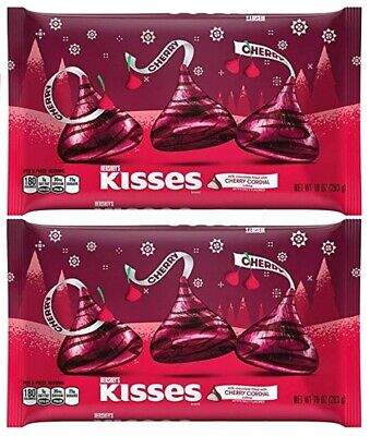 HERSHEYS KISS Cherry Cordial Milk Chocolate BB-05/2019 Seasonal LTD kisses