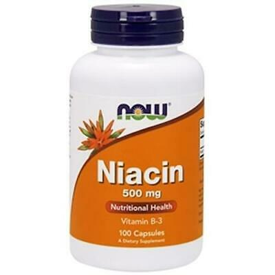 Now Foods Niacin 500 mg 100 Caps, Vitamin B-3, Essential B-group Vitamin