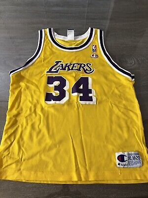 37213ec318a Vintage Shaquille O'Neal Los Angeles Lakers #34 Champion NBA Jersey Youth XL