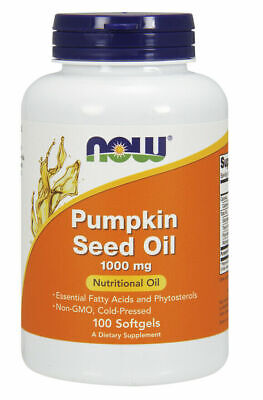 Now Foods Pumpkin Seed Oil, 1000 mg, 100 Softgels, Cold Pressed
