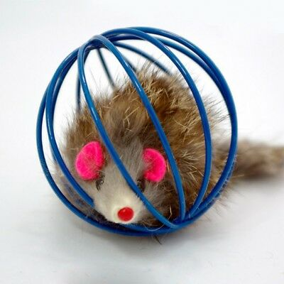 More Play Playing Toys False Mouse in Rat Cage Ball For Kitten Pet Cat Gifts