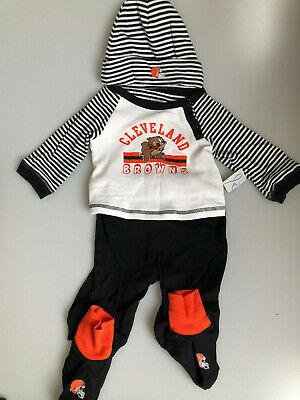 purchase cheap 47893 81eb9 NFL CLEVELAND BROWNS Baby's Bib & Pre-Walkers Set 0-6 Months ...