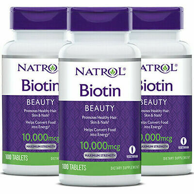 Natrol, Biotin, Maximum Strength, 10,000 or 1,000 mcg, 100, 200 & 300 Tabs