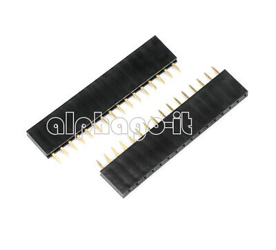 20/50/100x NEW 16Pin Header 2.54mm Pitch Single Row Female Straight Strip