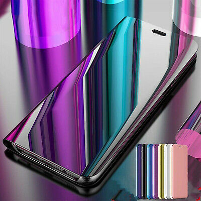 For Samsung Galaxy S10 Plus S10e Luxury Smart View Mirror Flip Stand Case Cover