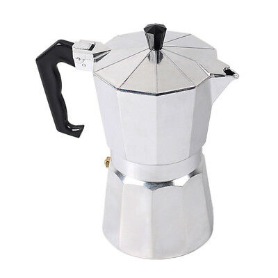 Aluminum Moka Espresso Coffee Maker Percolator Stove Top Pot 1/3/6/9/12 Cups