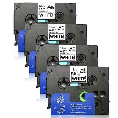 4pk TZ Tze231 12mm Label Tape Compatible Brother P-touch Laminated PT-D200 D210