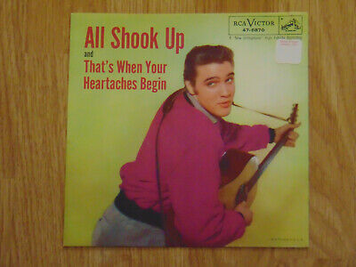 ELVIS PRESLEY All Shook Up / That's When Your Heartaches Begin - Sleeve Only -