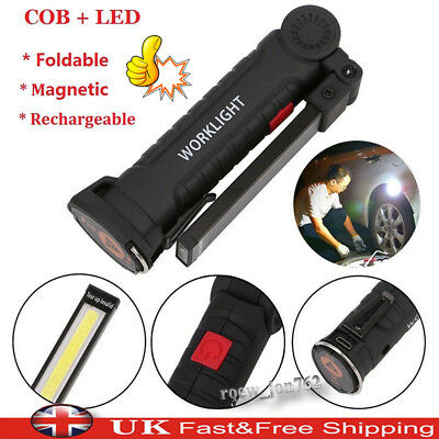 Rechargeable COB LED Magnetic Torch Flexible Inspection Lamp Cordless Work Light