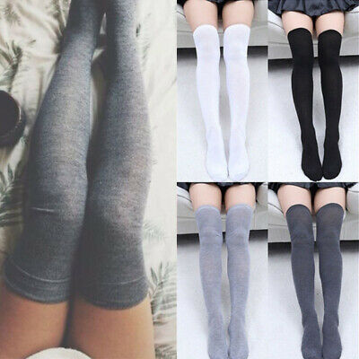 Women Girls Over The Knee Long Socks Knit Warm Soft Thigh High Stocking Tights