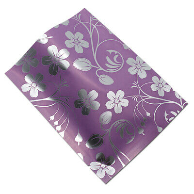 Purple Open Top Aluminum Mylar Foil Printed Bag Vacuum Heat Seal Food Pack Pouch