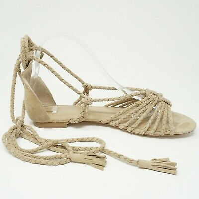 908bd97104f9 Joie Womens Gladiator Sandals Size 40 EU 10 US Falk Beige Suede Ankle Rope  Strap