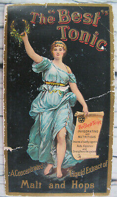 The Best Tonic Victorian Trade Card 1880s Malt Hops Quack Medicine Bridgeport