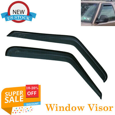 Smoke Tint Vent Window Shade Visor Rain Guards for Chevy Blazer 1995-2005 2-Door