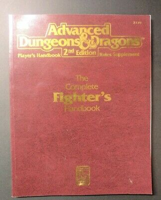 Advanced Dungeons & Dragons Complete Fighters Handbook AD&D 2nd Edition TSR 2110