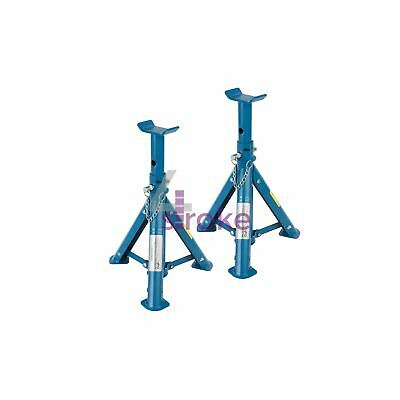 Folding Axle Stand Set 2Pc 2Tonne Strong Rust Resistant And Powder Coated