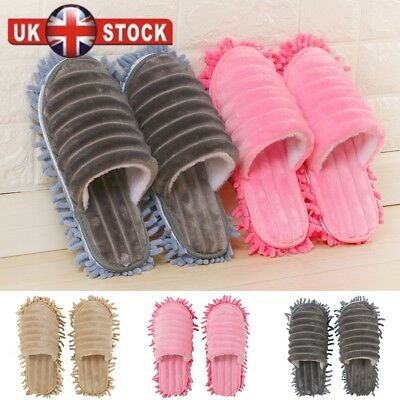 A pair Mop Slippers Lazy Floor Foot Socks Shoes Quick Polishing Cleaning Dust