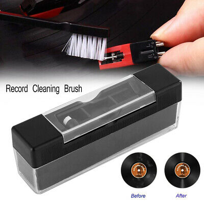 2 in 1 Vinyl Record Cleaning Brush Set Stylus Velvet Anti-static Cleaner Kit
