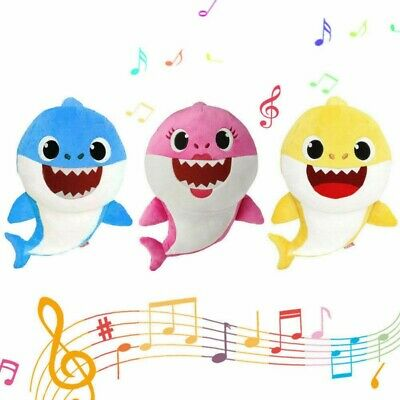 US Baby Shark Plush Singing Plush Toy Music Doll English Song Stuffed Toy Gift