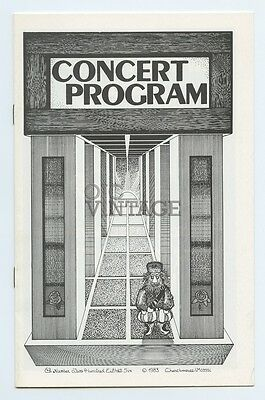 Grateful Dead Program 1983 Apr 16 Byrne Meadowlands Arena NJ