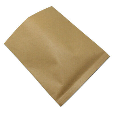 Brown Kraft Paper Bags Open Top Greaseproof Sandwiches Food Grade Package Pouch