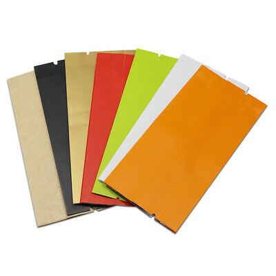 Open Top Kraft Paper Aluminum Foil Mylar Bags Side Gusset Seal Food Pack Pouches