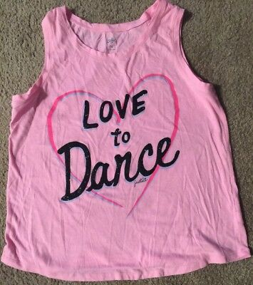 836f237008 JUSTICE GIRLS BLACK And Sliver DANCE Tank Top Size 16 -  8.00