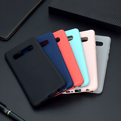 For Samsung Galaxy S10 Plus A6 A7 Slim Silicone Rubber Frosted TPU Case Cover