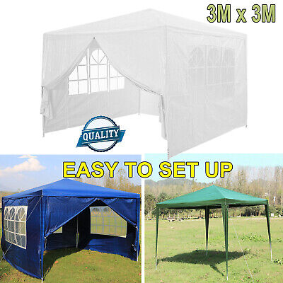 3x3m Garden Heavy Duty NOT Pop Up Gazebo Marquee Party Tent Wedding Canopy Size