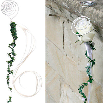 Pew Pendant with Beads Water Tubes for Bloom Kirchenchmuck Wedding #