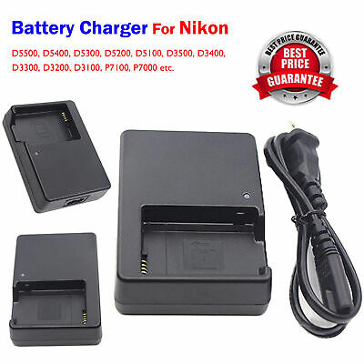 UK MH-24 Camera Battery charger for Nikon EN-EL14 D3200 D3300 D5300 D5500 P7100