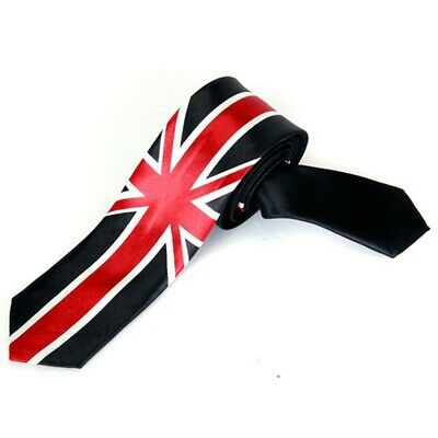 Loisirs Cravate Unisexe Mince Maigre Cravate - Union Jack G8A1