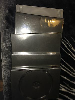 5 X Dvd Or Game Or Music Empty Single Disk Holders Cover