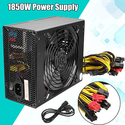 1850W Max Mining Machine Power Supply For Rig Coin Antminer S7 S9 Bitcoin Miner