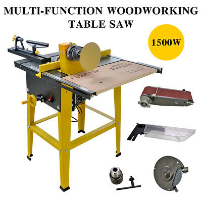 31''×24'' Polisher Grinder Driller Cutter Multi-function Woodworking Table Saw