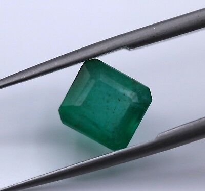 2.25 Ct Natural Emerald Loose Zambia Unheated Untreated Octagon Cut Gemstone