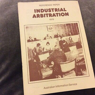 Reference Paper - Industrial Arbitration - 1978
