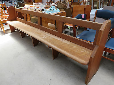 Church Pew,  Original Condition, Fully Wooden with ends, Eleven Feet in Lenght